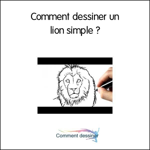 Les 25 meilleures id es de la cat gorie dessin lion sur - Comment dessiner un lion ...