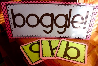 Boggle & Daily Shedule Cards