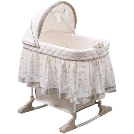 The adorable #Delta #Enterprises Playtime Rocking Bassinet is perfect for keeping your little one close to you during the early months. It features a jungle-inspi...