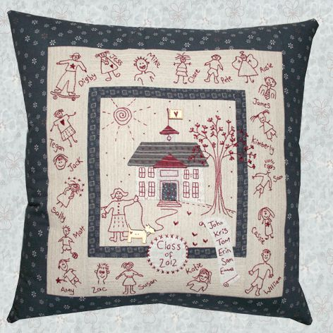 shop category lynette anderson designs product my school pillow - Home Design Products Anderson In