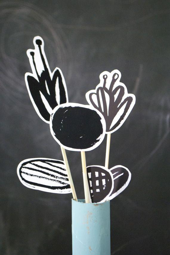 ohhappyday minted 종이꽃 만들기_도안을 이용한 독특하고 예쁜 꽃.. 아이디어 인테리어 소품으로도 활용이...