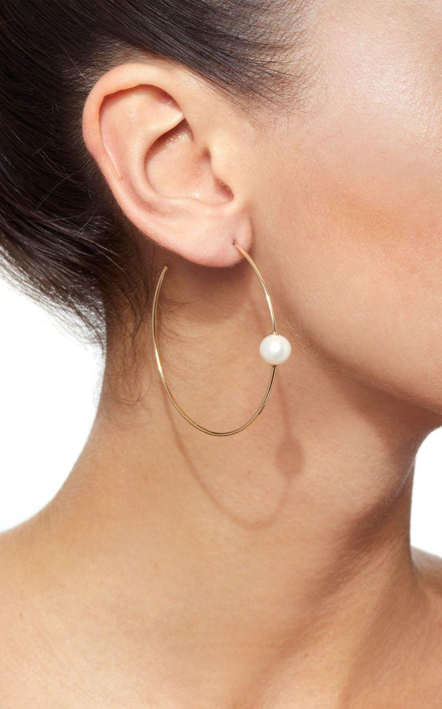 Pearl Hoop Earrings by Sydney Evan