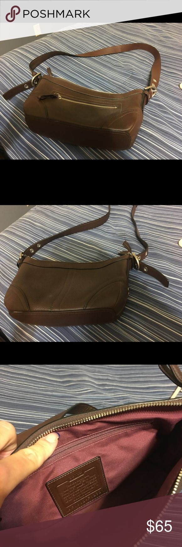 Coach Purse Brown leather Coach Purse. Perfect condition- never been used. Coach Bags Shoulder Bags