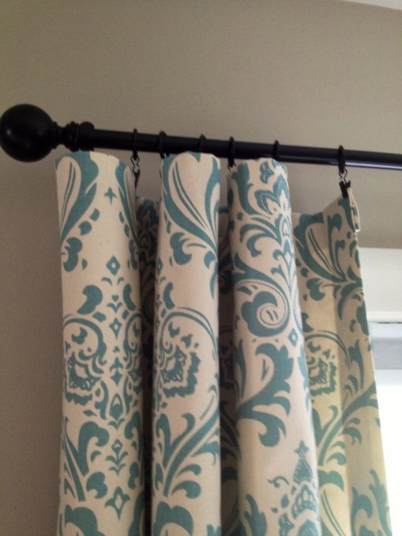 I BOUGHT THESE ON ETSY...  THEY ARE JUST LOVELY......  Beautiful Lined Ivory and Blue Damask by LittlestDoveDesigns