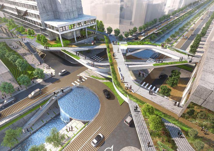 Seun city walk, Seunsangga, Seun, high line in Korea, 3d print landscape, urban planning, retrofit, factory rehab, seoul, greenwalk, elevated park, sustainable design, architecture, hipster, business evolution