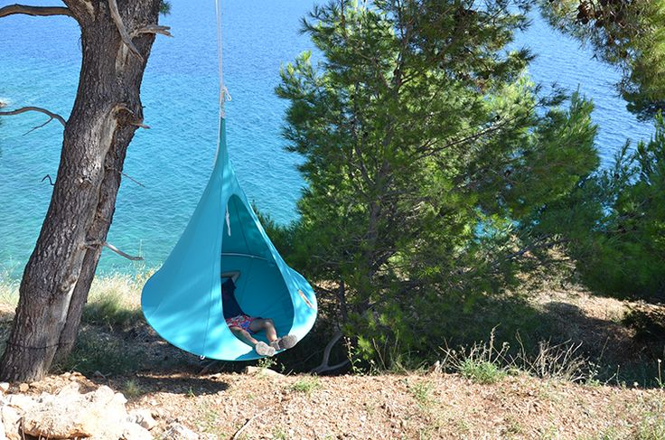 Tente Suspendue Cacoon Single Turquoise Hang In Out JardinChic