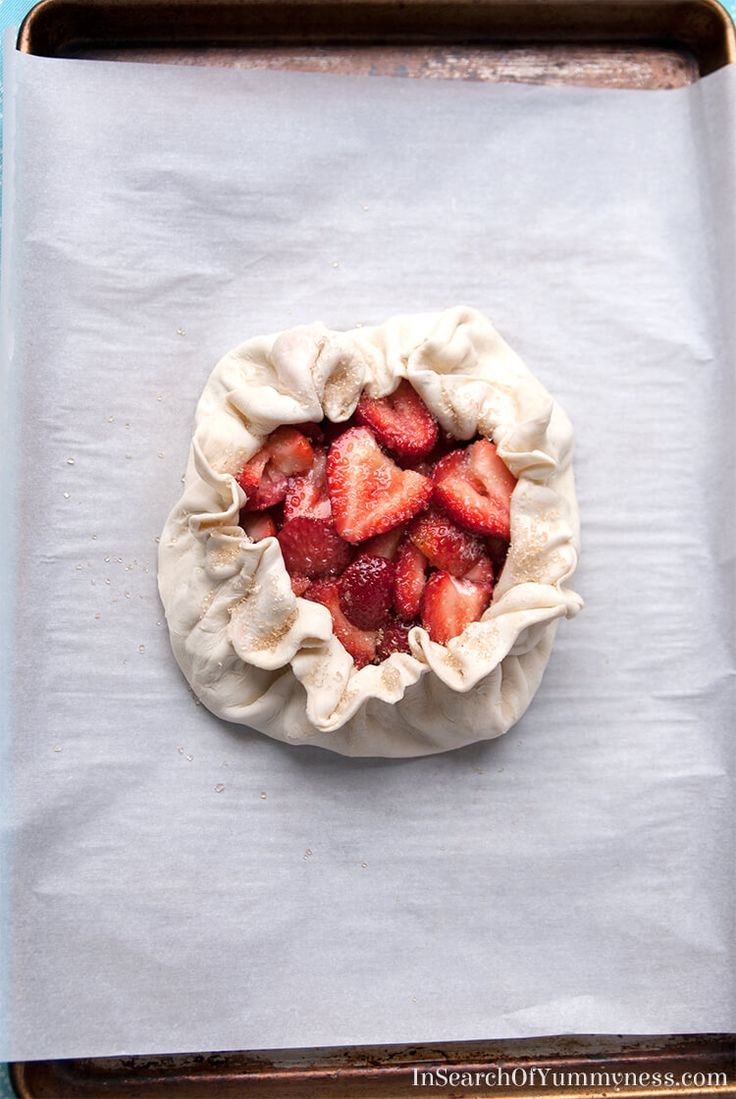 The strawberry galette, before it went into the oven | InSearchOfYummyness.com