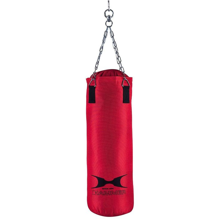 HAMMER BOXING Punching Bag Fit, Red, 60cm