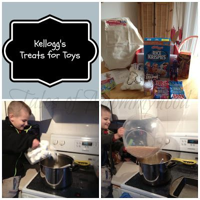 """#treatsfortoys  Make a rice krispy """"toy"""" and upload to the website for a donation to the salvation army, who will then purchase toys for children this Christmas!"""