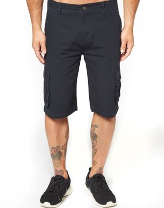 Plain Cargo Shorts