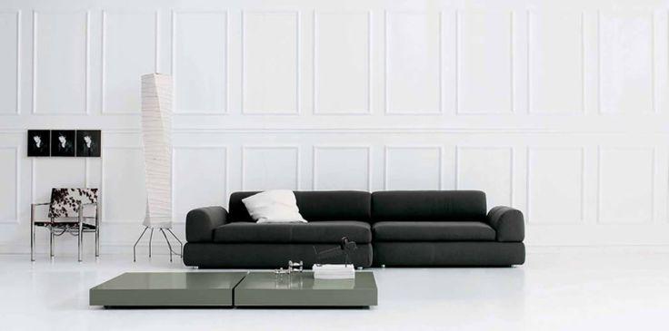 Italienische Sofas Designermbel Wohnzimmer Sofa Schwarz