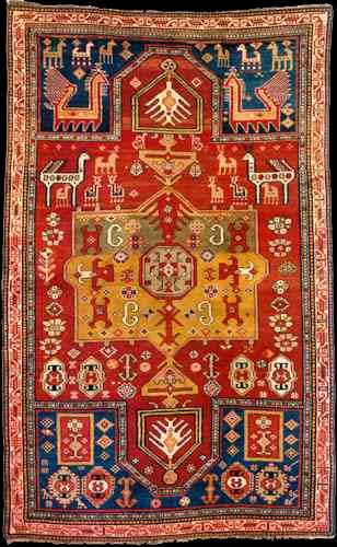 Antique Kazak Prayer rug, Kazak or Gendje Regions, Azerbaijan