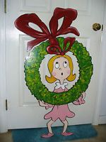 HAND MADE, WHOVILLE CINDY LOU CHRISTMAS YARD ART DECORATION