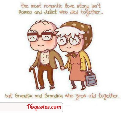 The most romantic love story - Nice quote