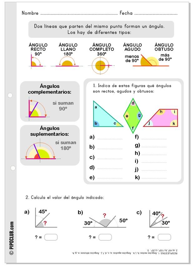 Actividad sobre los ángulos. #angulos #matematicas #Educación by @evapipo
