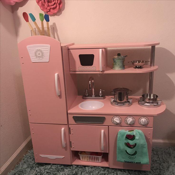 #Kidkraft #Vintage #kitchen #Pink #toddlerplayroom #pinkkitchen