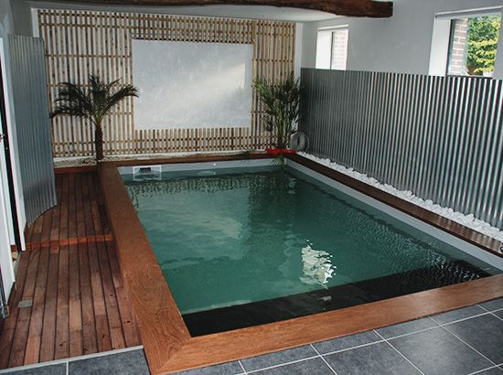17 migliori idee su maison avec piscine int rieure su pinterest mini piscin - Mini piscine naturelle ...