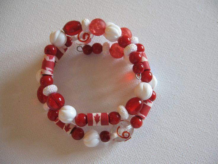 A Canadian Flair- wrap around bracelet