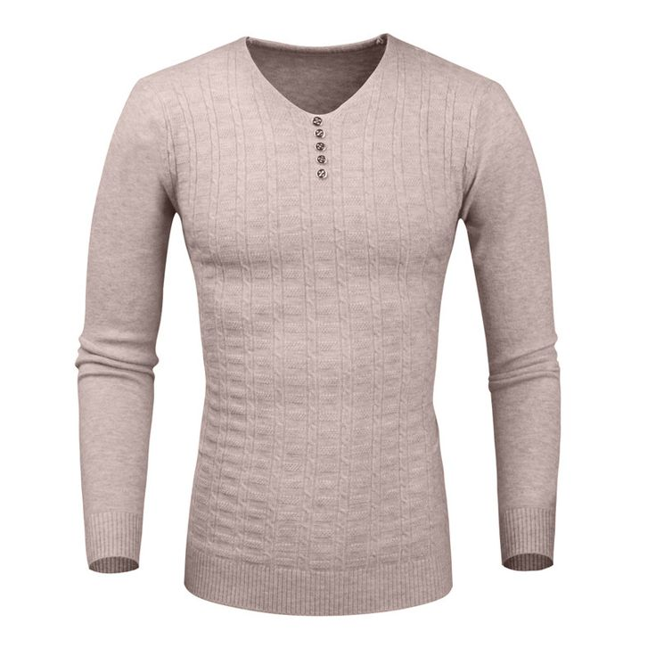 New 2016 Mens Christmas Sweater Brand Clothing Pull V-Neck Button Sweter Hombre Casual Pullover Knitting Sweaters Homme Men
