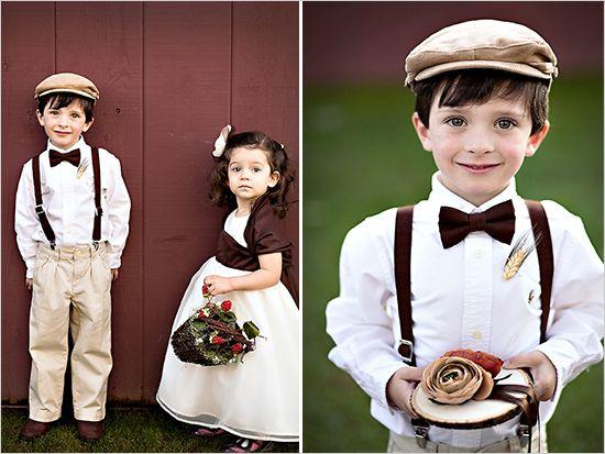 Les enfants d'honneur / Flower girl ring bearer