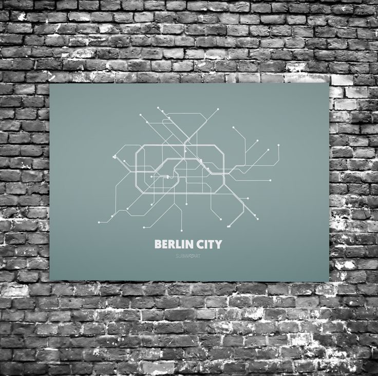 berlin city c4 acrylic glass art subway maps u bahn. Black Bedroom Furniture Sets. Home Design Ideas