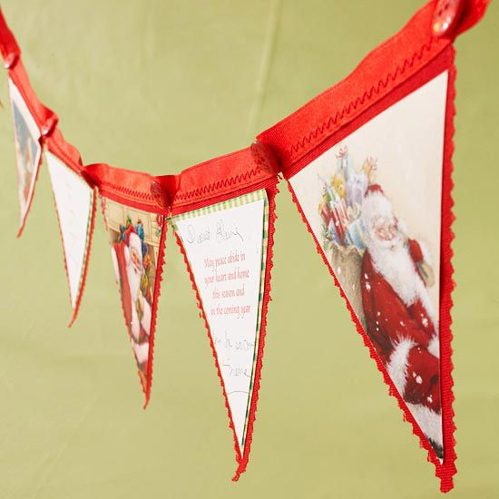 Could this be any cuter!!?? Christmas Card Banner from recycled Christmas cards...can't wait to make one!!