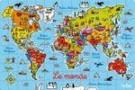 Assemble le puzzle du Monde et apprend à situer les pays et retiens le nom des capitales.