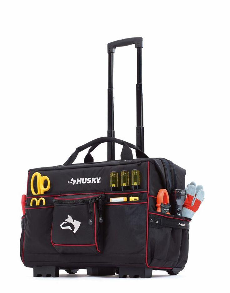 Husky 22inch Pro Grade Rolling Tote. Husky Tool Bag