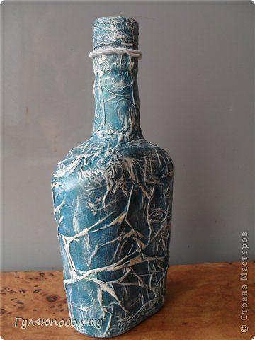 Декор предметов Декупаж Натворила №-15 Бутылки стеклянные Краска Салфетки фото 7