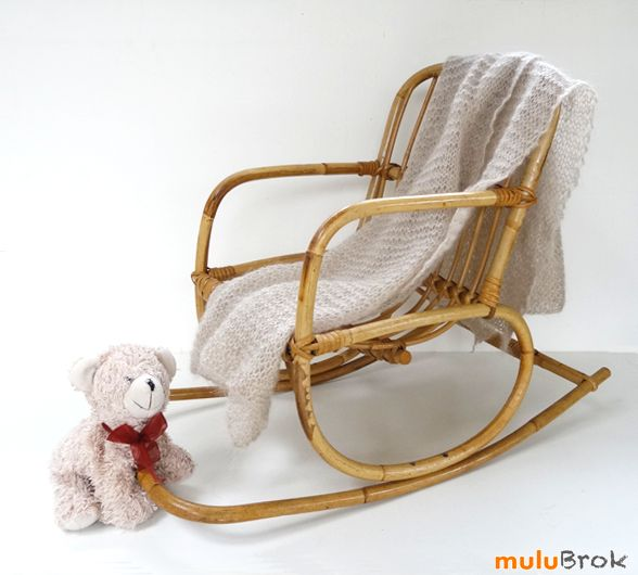 fauteuil bascule pour enfant rocking chair en rotin d co vintage petit. Black Bedroom Furniture Sets. Home Design Ideas