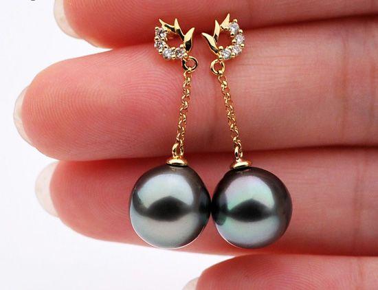 new Tahitian Pearl earrings