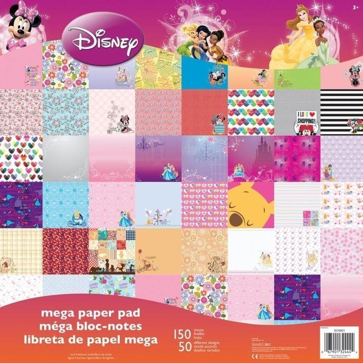 Stack Disney Princess Morado Mega Paper Pad