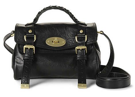Mulberry Mini Alexa in Black The Mulberry Mini Alexa in Black is a satchel bag made from butter soft buffalo leather. It is full of Mulberry credentials, exemplified by the branded postman's …