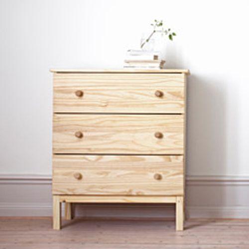 Cómoda TARVA, de madera de pino   Catálogo Ikea 2015