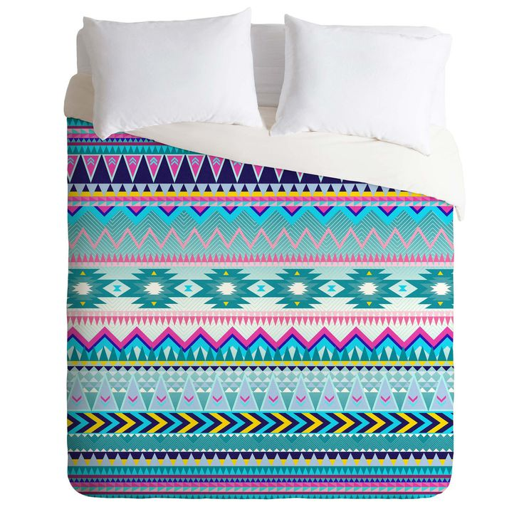 Iveta Abolina Tribal Teal Duvet Cover | DENY Designs Home Accessories