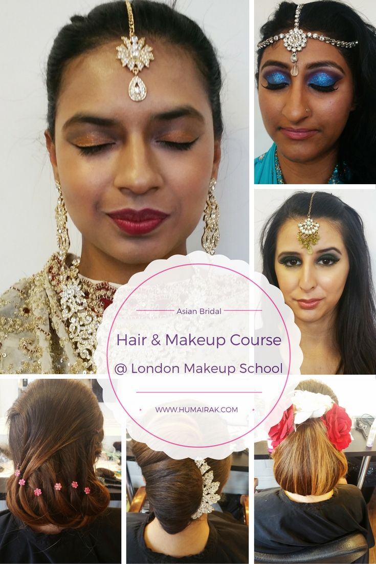 Asian Bridal Hair and Makeup Course review from London School of Makeup. I learned how to do hair & makeup looks for asian brides from simple registry to dramatic bridal makeup & complicated updos   humairak.com