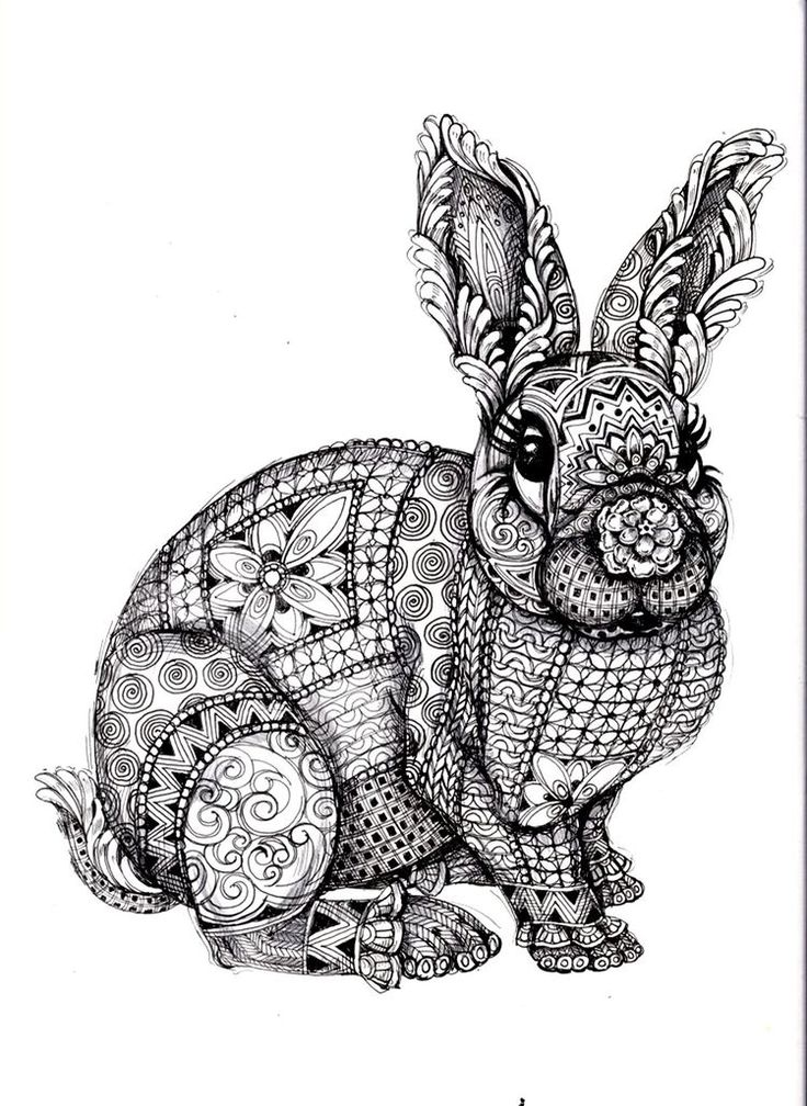 adult difficult rabbit coloring pages printable and coloring book to print for free find more coloring pages online for kids and adults of adult difficult - Free Coloring Books By Mail