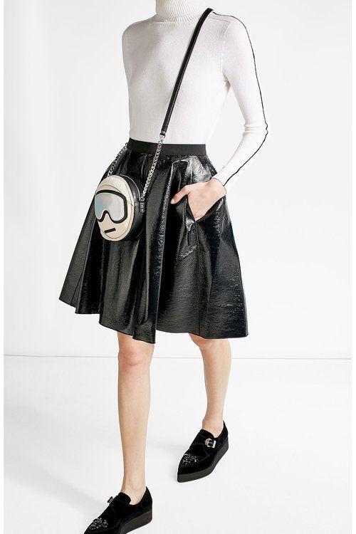 Leather Shoulder Bag  | Karl Lagerfeld