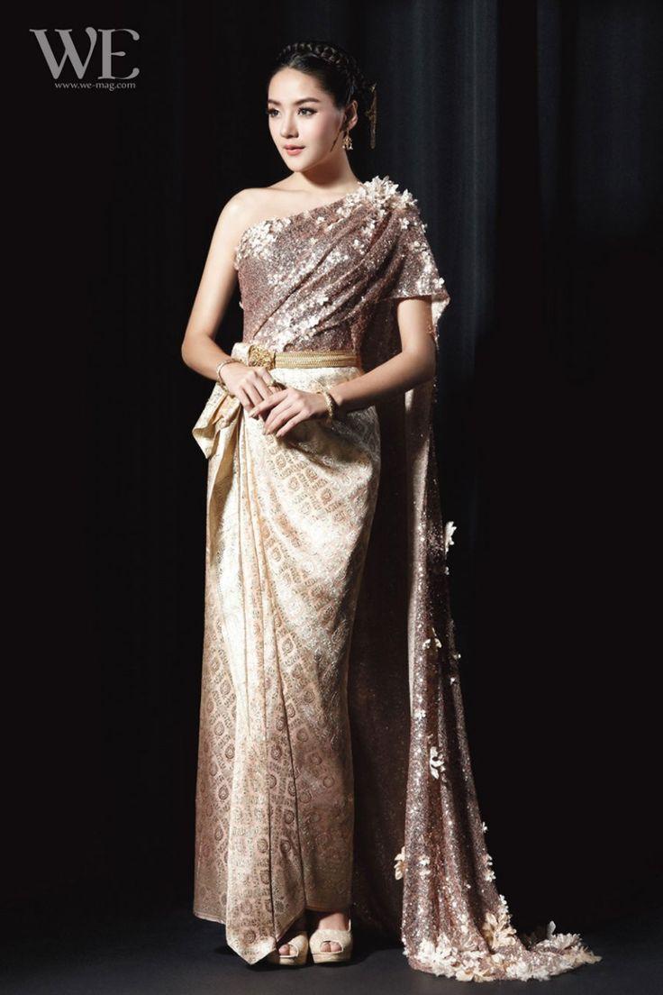 262 best thai wedding dress images on pinterest for Khmer dress for wedding party