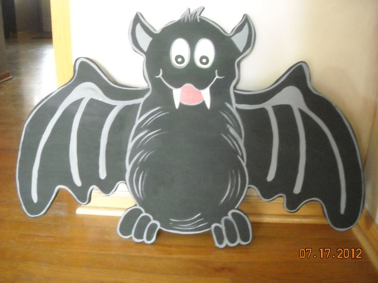 Halloween Huge Yard Bat Wood Art Decoration. $35.00, via Etsy.