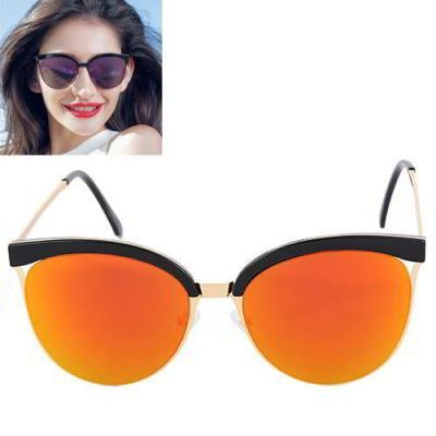 Cat Eye Shape Frame Decorated Simple Design Orange. Simple and must have it! REPIN if you love it.😍 Only 135 IDR