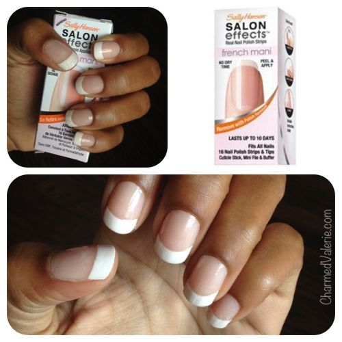a french manicure that won't chip...like, EVER --> Sally Hansen Salon Effects Real Nail Polish Strips French Mani {REVIEW}