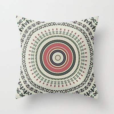 """TextMe"" Throw Pillow / Indoor Cover (Almohada / cubierta interior) / (16 ""x 16"") 