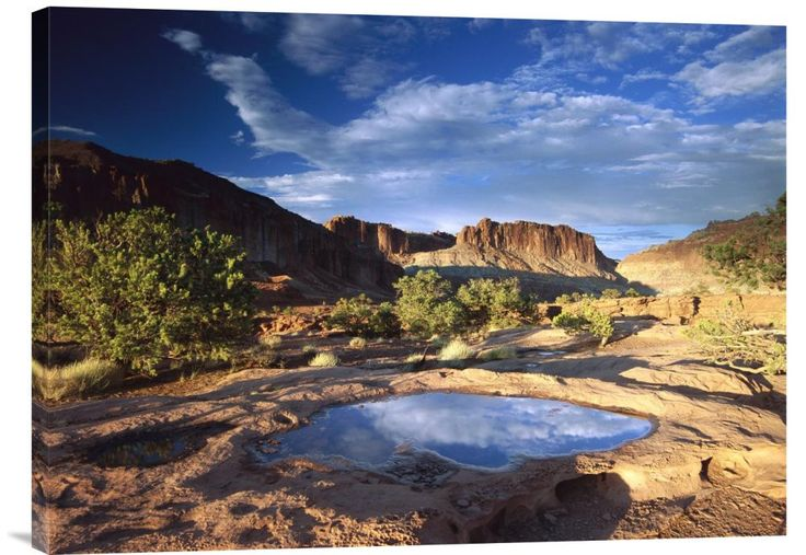 buy Seng Shui wall art photo Water Pothole at Panorama Point, Capitol Reef National Park, Utah at www.explosionluck.com