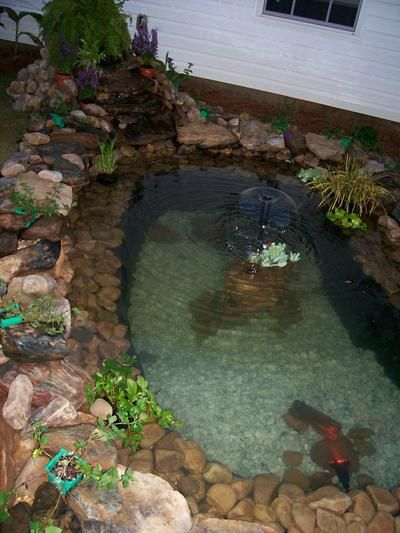 17 best images about diy fish ponds on pinterest pond for Homemade koi pond