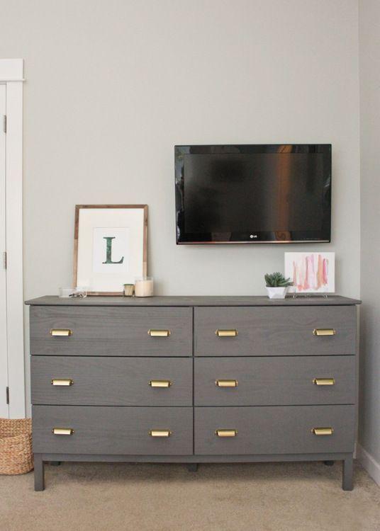 ikea hack tarva dresser makeover with benjamin moore. Black Bedroom Furniture Sets. Home Design Ideas