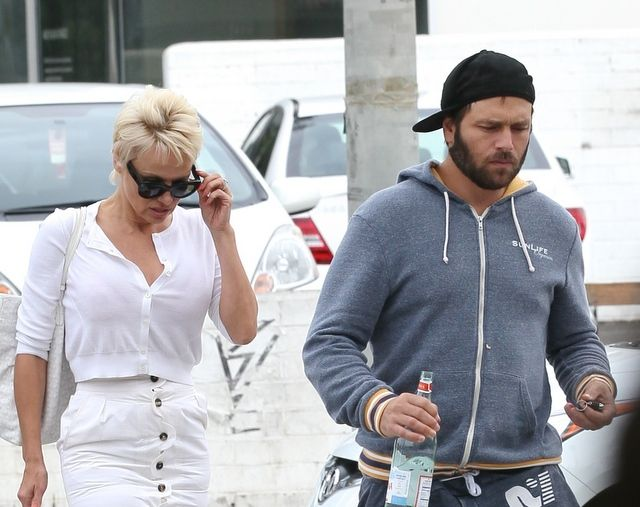 Pamela Anderson has called time on her marriage to Rick Salomon a third time, filing for divorce on Tuesday.