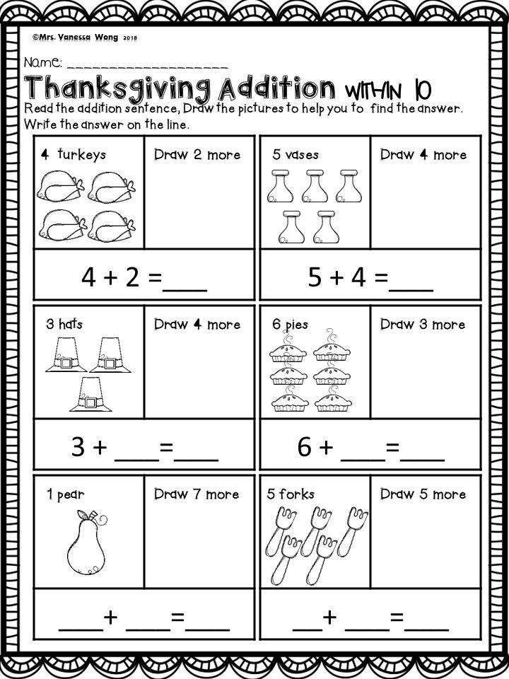 Thanksgiving Activities For Kindergarten Math And Literacy No Prep Printables Kindergarten Activities Thanksgiving Activities For Kindergarten Kindergarten Math Free Thanksgiving worksheets and centers