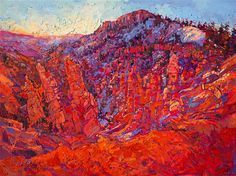 Bryce Canyon painting on display at St Geroge Art Museum.