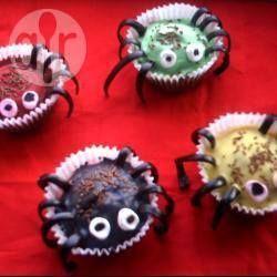Rezeptbild: Spinnen-Muffins für Halloween